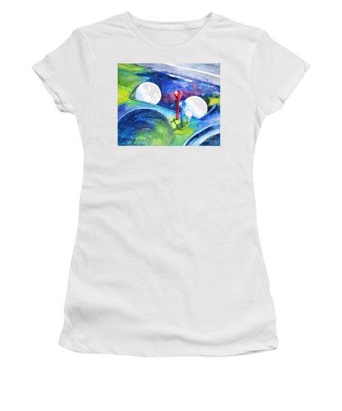 Golf Series - Back Safely Women's T-Shirt (Junior Cut) by Betty M M Wong