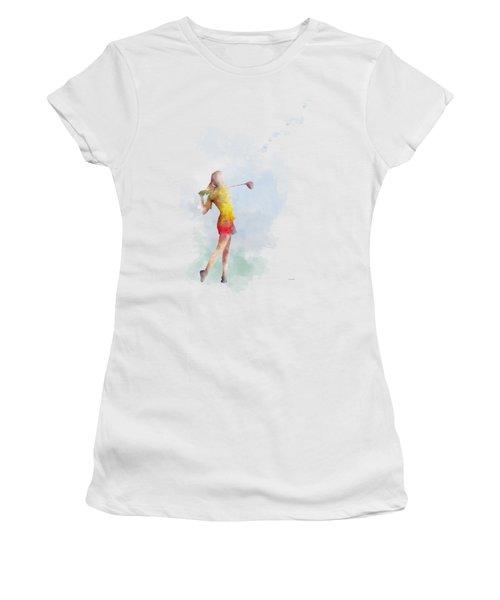 Golfer Women's T-Shirt (Junior Cut) by Marlene Watson