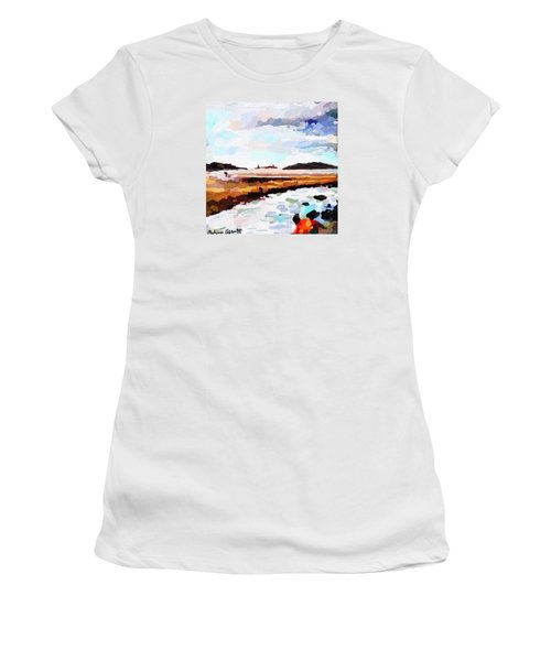 Good Harbor Beach, Salt Island, And Thatcher's Island Women's T-Shirt (Athletic Fit)