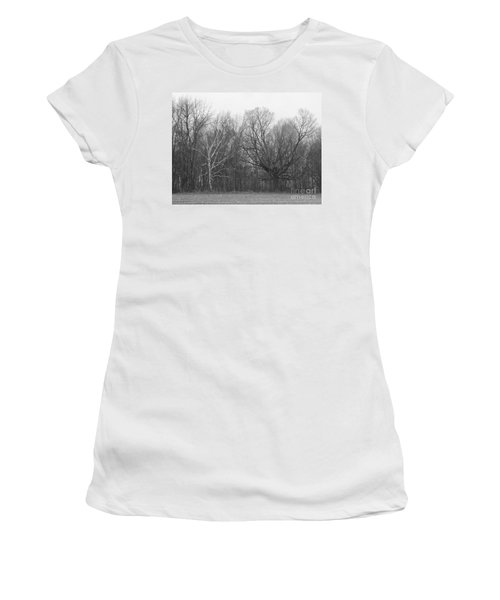 Good Vs Evil Trees Women's T-Shirt (Athletic Fit)