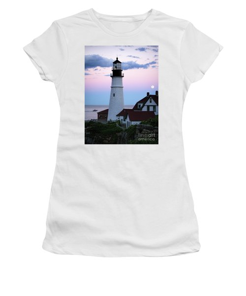 Goodnight Moon, Goodnight Lighthouse  -98588 Women's T-Shirt (Athletic Fit)