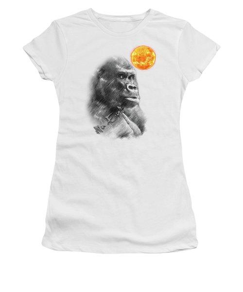 Gorilla Women's T-Shirt (Junior Cut) by iMia dEsigN