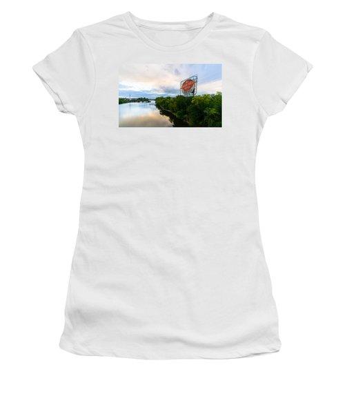 Grain Belt Beer Sign On River Women's T-Shirt