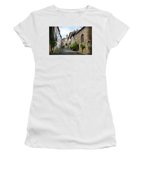Grand Rue De L'horlogue In Cordes Sur Ciel Women's T-Shirt (Junior Cut) by RicardMN Photography