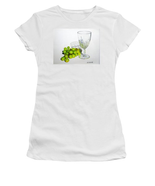 Grapes And Crystal Women's T-Shirt (Athletic Fit)