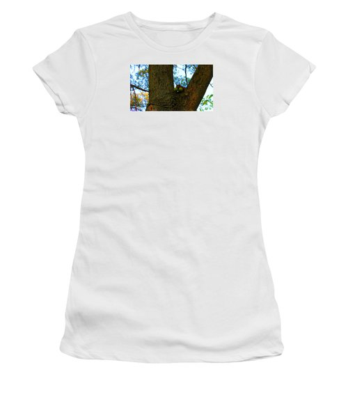 Women's T-Shirt (Junior Cut) featuring the photograph Grateful Tree Squirrel by Michael Rucker