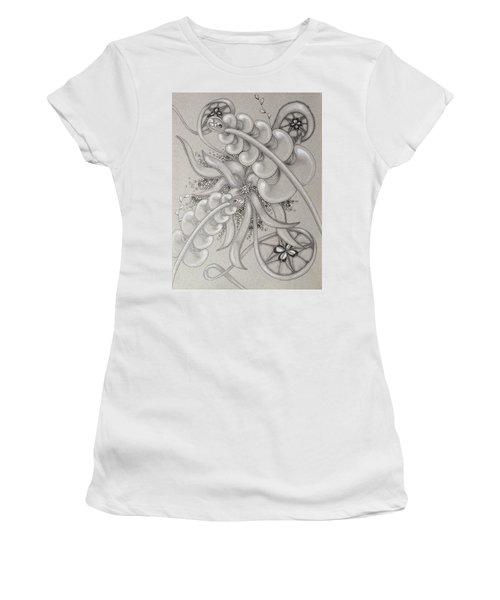 Gray Garden Explosion Women's T-Shirt