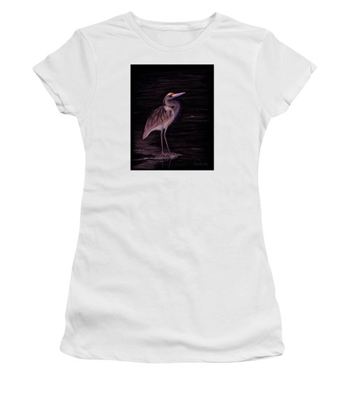 Great Blue Heron Women's T-Shirt (Junior Cut) by Phyllis Howard