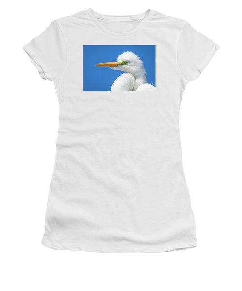 Great Egret Profile Women's T-Shirt (Athletic Fit)
