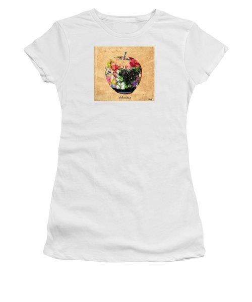Green Apple Poster Print Women's T-Shirt