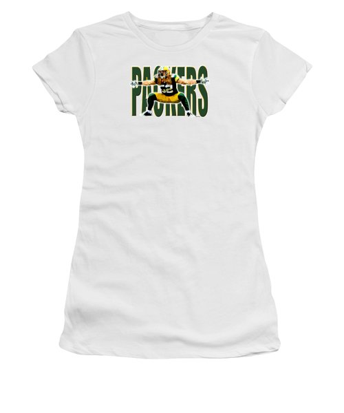 Green Bay Packers Women's T-Shirt (Junior Cut) by Stephen Younts
