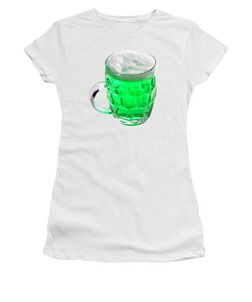 Green Beer Women's T-Shirt (Junior Cut) by Stephanie Brock