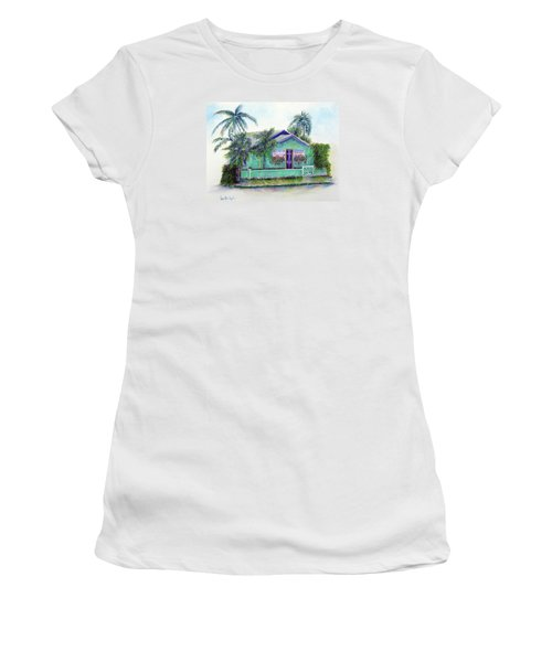 Green Cottage Women's T-Shirt (Junior Cut) by Loretta Luglio