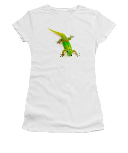 Women's T-Shirt (Athletic Fit) featuring the photograph Green Gecko by Denise Bird