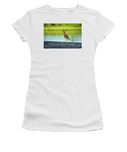 Green Heron Women's T-Shirt (Junior Cut)