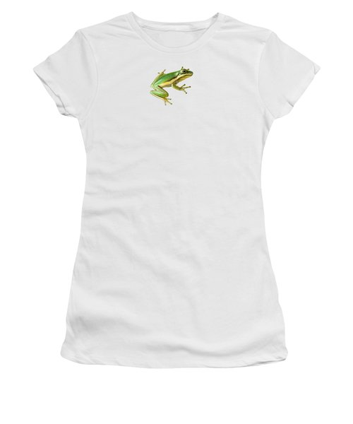 Green Tree Frog Women's T-Shirt (Athletic Fit)