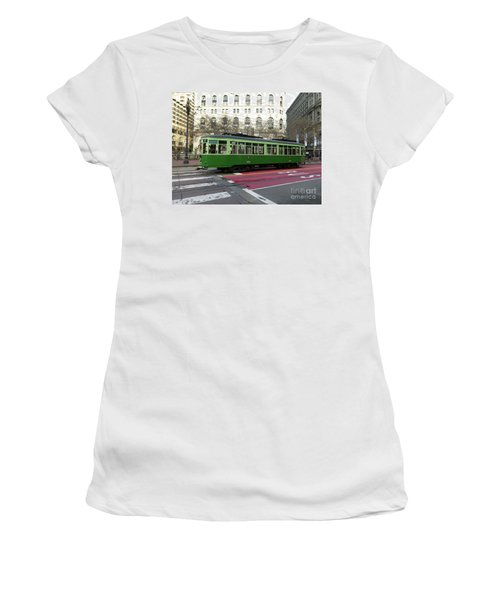 Green Trolley Women's T-Shirt (Athletic Fit)