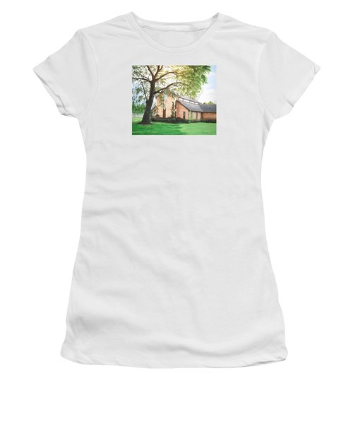 Women's T-Shirt (Junior Cut) featuring the painting Greenwood by Mike Ivey
