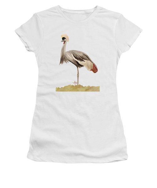 Grey Crowned Crane Women's T-Shirt