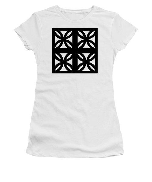 Grid 3 Transparent Women's T-Shirt (Athletic Fit)