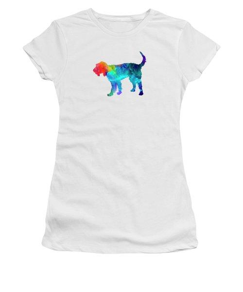 Griffon Nivernais In Watercolor Women's T-Shirt (Junior Cut) by Pablo Romero