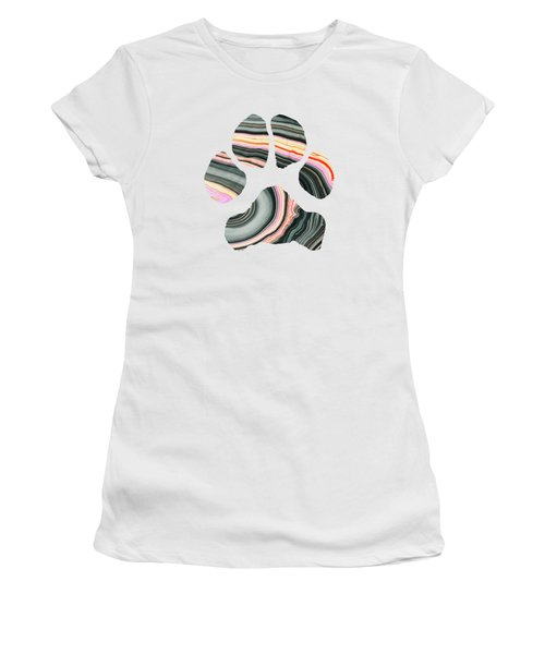 Groovy Dog Paw - Sharon Cummings  Women's T-Shirt