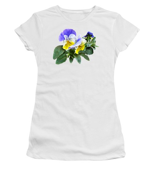 Group Of Yellow And Purple Pansies Women's T-Shirt