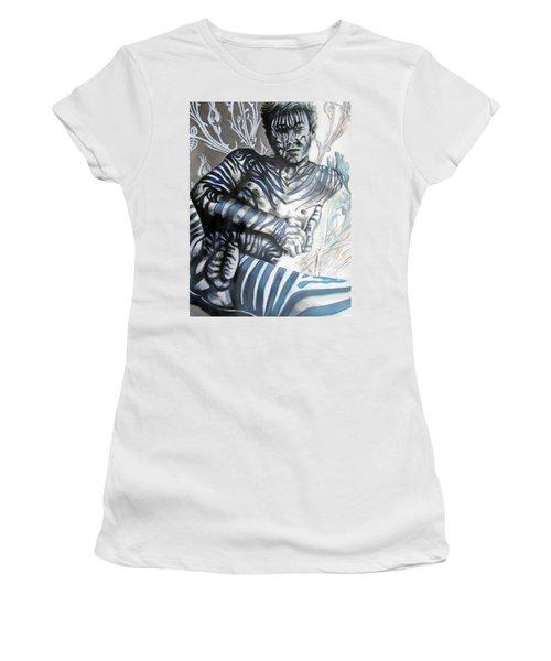 Growing Pains Zebra Boy  Women's T-Shirt (Athletic Fit)