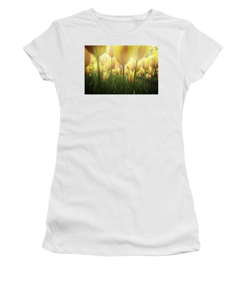 Growing  Tulips  Women's T-Shirt (Athletic Fit)