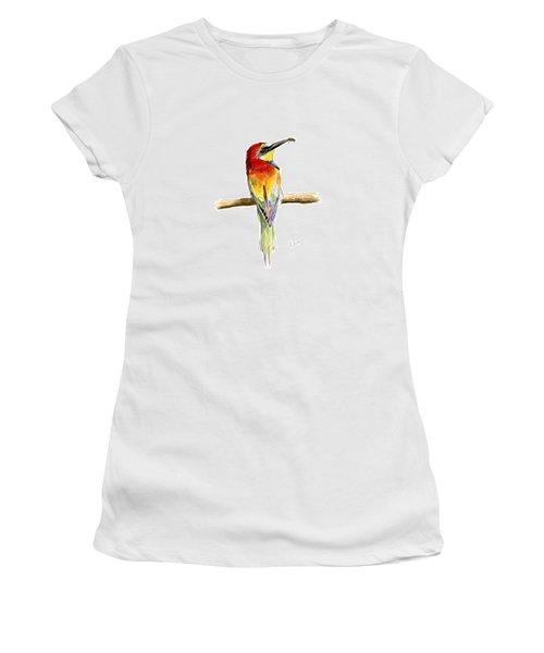 Gruccione  - Bee Eater - Merops Apiaster Women's T-Shirt (Junior Cut) by Raffaella Lunelli