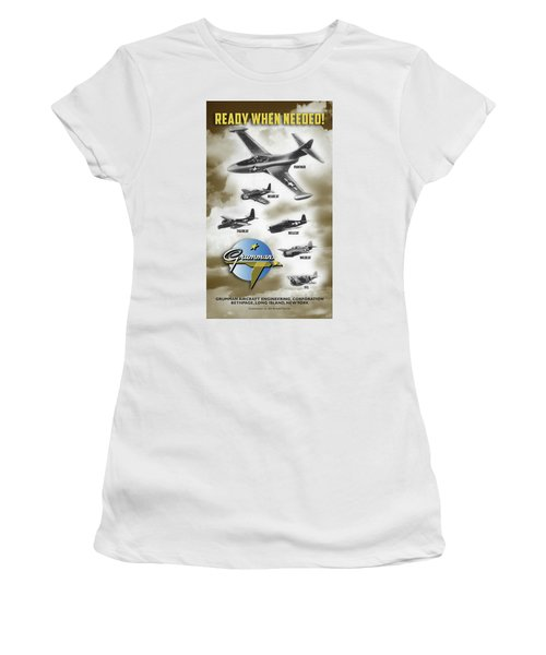 Grumman Ready When Needed Women's T-Shirt (Athletic Fit)