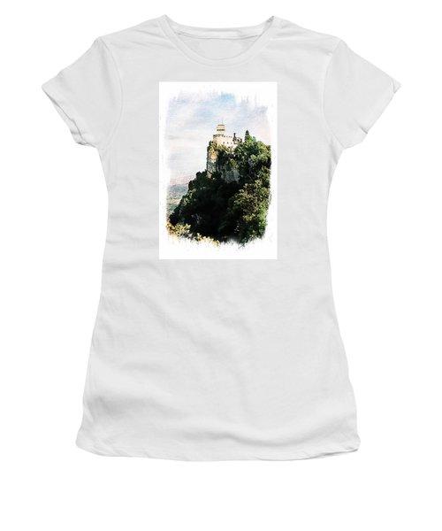 Guaita Castle Fortress Women's T-Shirt (Junior Cut) by Joseph Hendrix