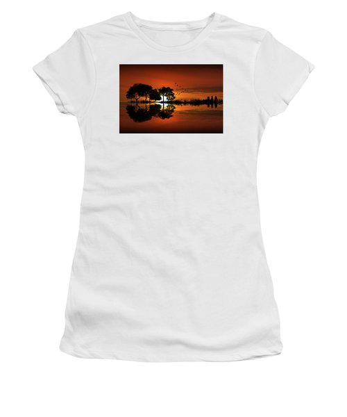 Guitar Landscape At Sunset Women's T-Shirt