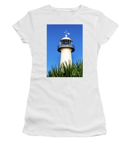 Gulf Coast Lighthouse Seascape Biloxi Ms 3819a Women's T-Shirt (Athletic Fit)