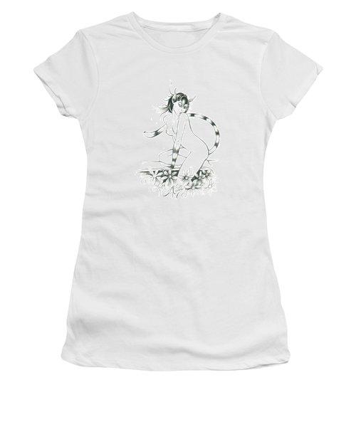Half Wild Cat Women's T-Shirt (Athletic Fit)
