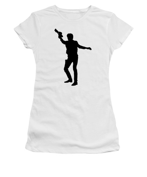 Han Solo Star Wars Tee Women's T-Shirt (Junior Cut) by Edward Fielding