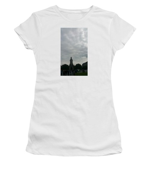 Hand Pressing The Sky Women's T-Shirt (Junior Cut) by Zachary Lowery