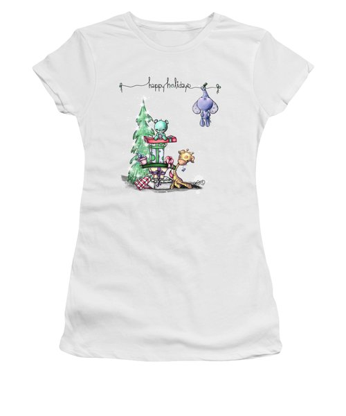 Hanging Around For The Holidays Women's T-Shirt (Athletic Fit)