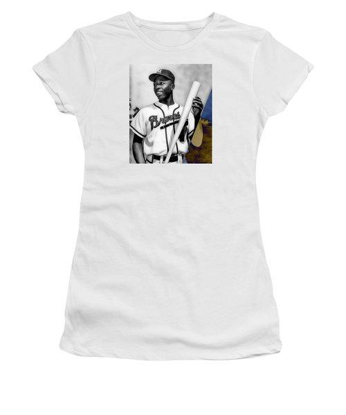 Hank Aaron Women's T-Shirt (Athletic Fit)