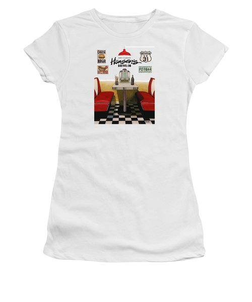 Hansen's Drive-in Women's T-Shirt (Junior Cut) by Ferrel Cordle