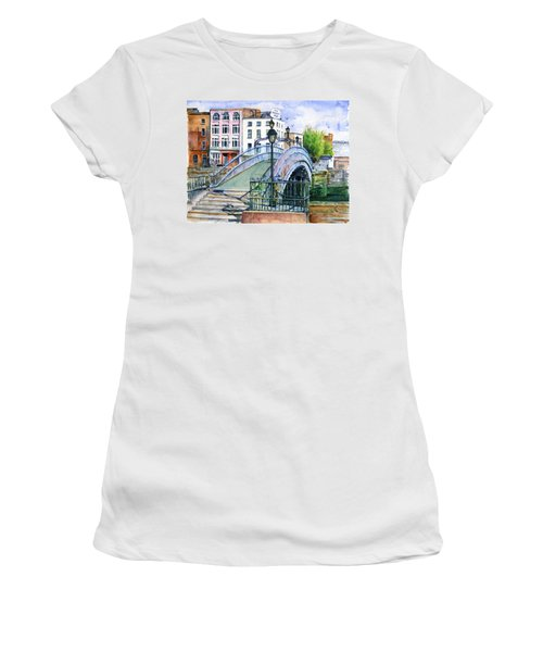 Ha'penny Bridge Dublin Women's T-Shirt (Athletic Fit)