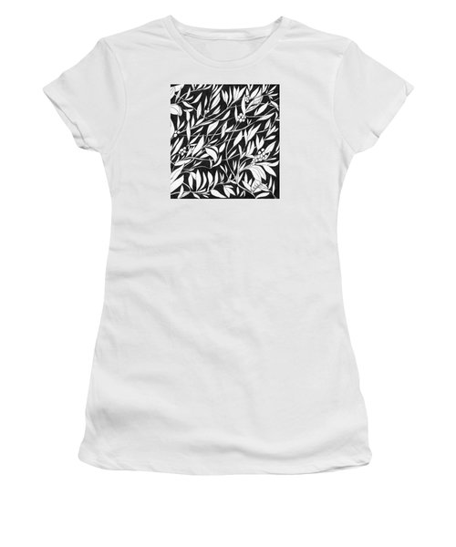 Women's T-Shirt (Junior Cut) featuring the painting Happy Berries by Lou Belcher