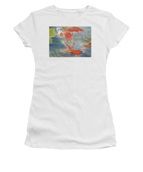 Happy Koi Women's T-Shirt (Athletic Fit)