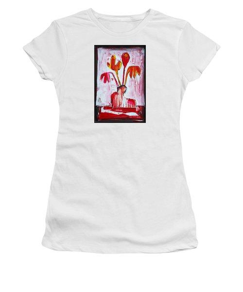 Happy Poppy Women's T-Shirt (Junior Cut) by DAKRI Sinclair