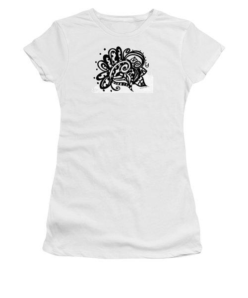 Happy Swirl Doodle Women's T-Shirt
