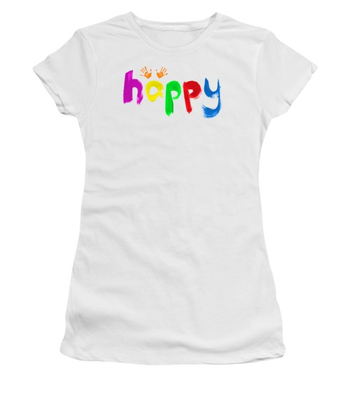 Happy Women's T-Shirt (Junior Cut) by Tim Gainey
