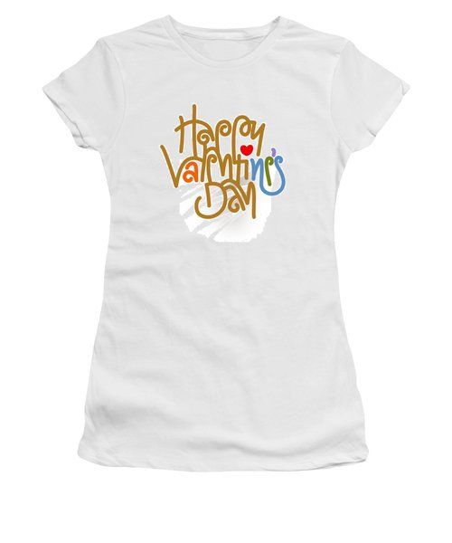 Happy Valentine's Day Poster Women's T-Shirt