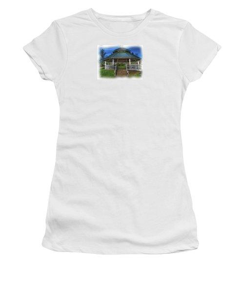 Women's T-Shirt (Junior Cut) featuring the photograph Happy Valley Gazebo Art  by Thom Zehrfeld