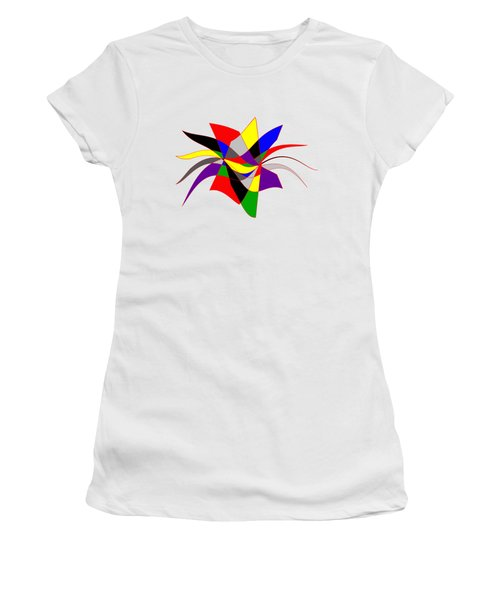 Harlequin Flower Women's T-Shirt (Junior Cut) by Methune Hively