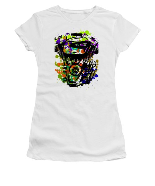 Harley Davidson Pop Art 1 Women's T-Shirt (Athletic Fit)